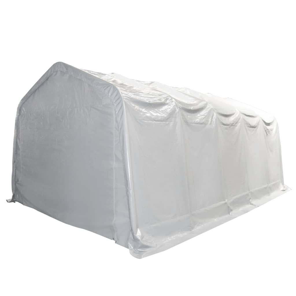 Afbeelding van vidaXL Opslagtent 550 g/m² 5x10 m PVC wit