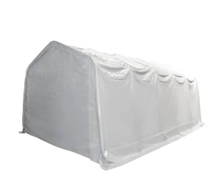 vidaXL Tente de rangement PVC 5 x 10 m Blanc[2/6]