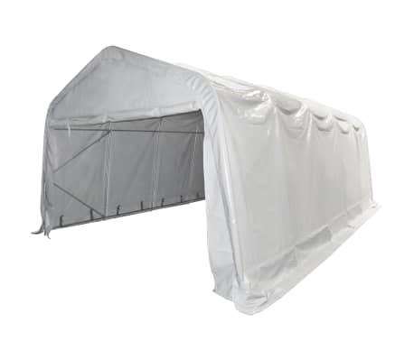 vidaXL Tente de rangement PVC 5 x 10 m Blanc[3/6]
