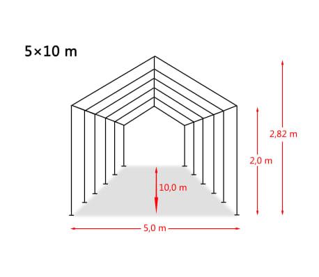 vidaXL Tente de rangement PVC 5 x 10 m Blanc[6/6]