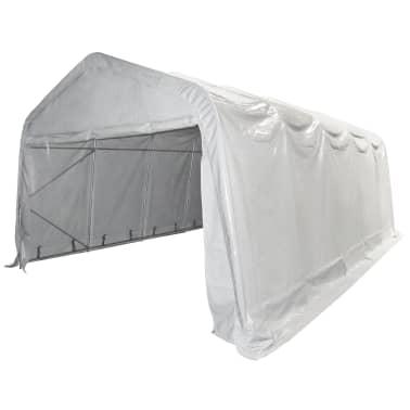 vidaXL Tente de rangement PVC 550 g/m² 5 x 10 m Blanc[3/6]
