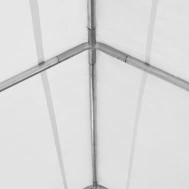 vidaXL Tente de rangement PVC 5 x 10 m Blanc[4/6]