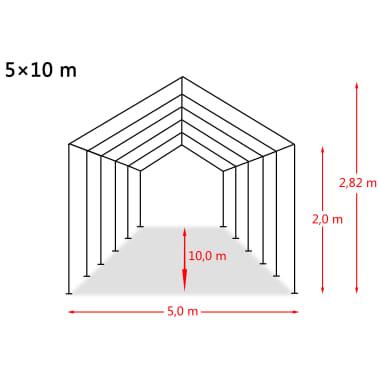 vidaXL Tente de rangement PVC 550 g/m² 5 x 10 m Blanc[6/6]