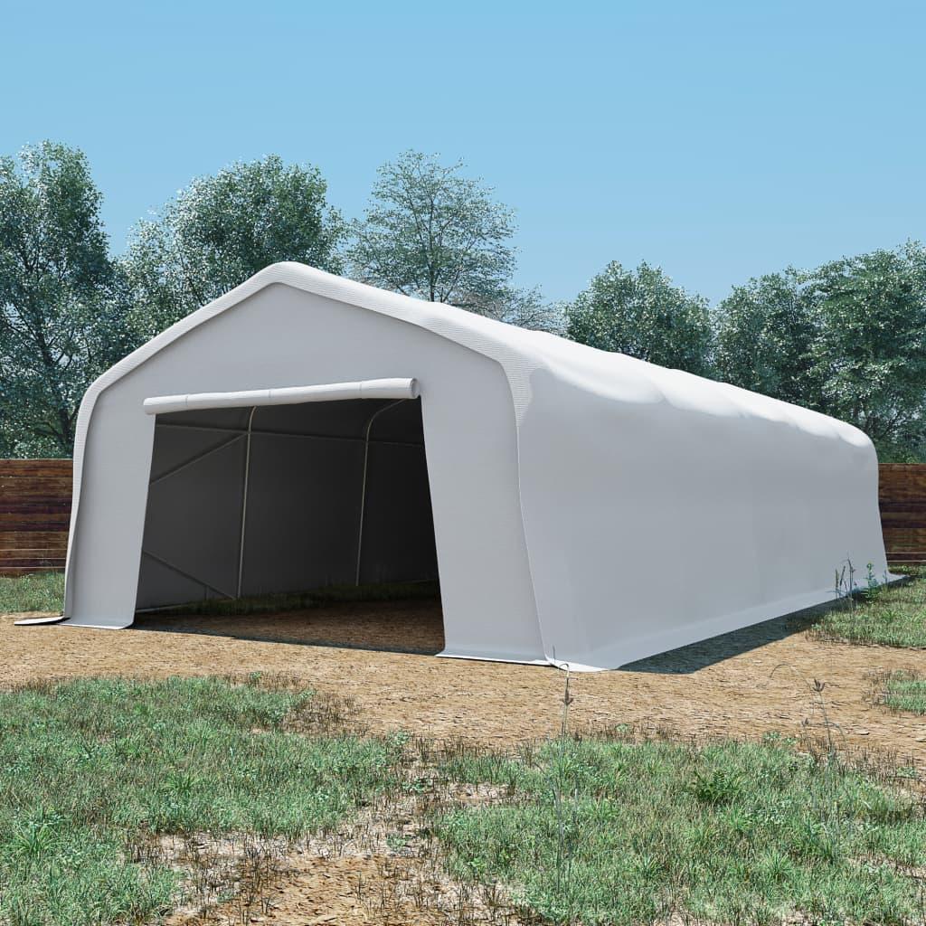 vidaXL Cort de depozitare, alb, 5 x10 m, PVC, 550 g/m² vidaxl.ro