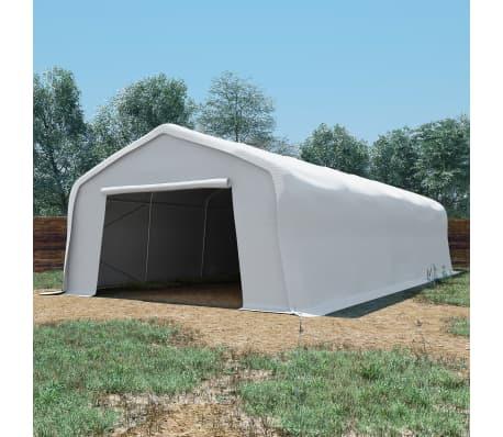 vidaXL Tente de rangement PVC 5 x 10 m Blanc[1/6]