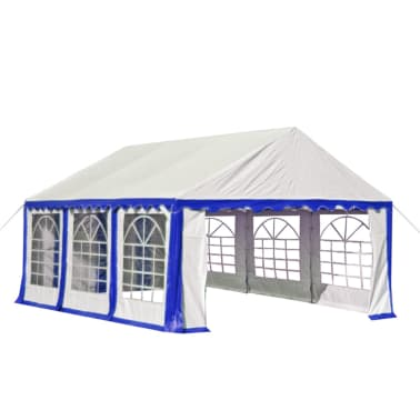 vidaxl partyzelt pvc 3x6 m blau und wei g nstig kaufen. Black Bedroom Furniture Sets. Home Design Ideas