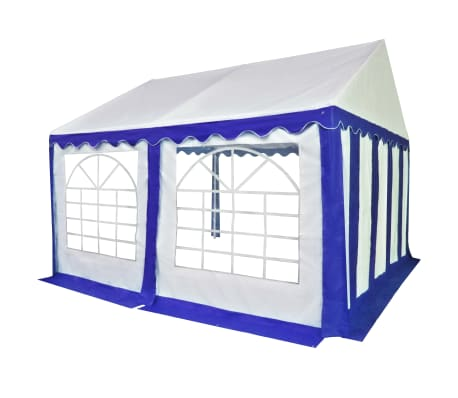 vidaXL kék és fehér PVC kerti pavilon 4 x 4 m