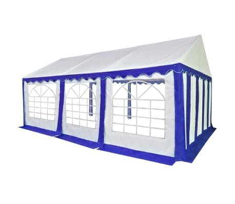 vidaXL kék és fehér PVC kerti pavilon 4 x 6 m