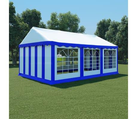 vidaxl partyzelt pvc 4x6 m blau und wei g nstig kaufen. Black Bedroom Furniture Sets. Home Design Ideas