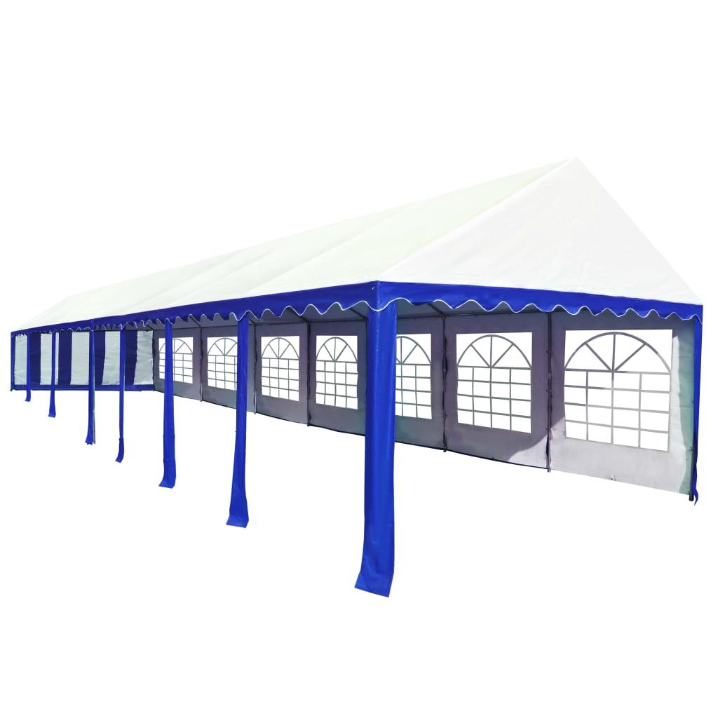99274960 Partyzelt PVC 6 x 14 m Blau und Weiß