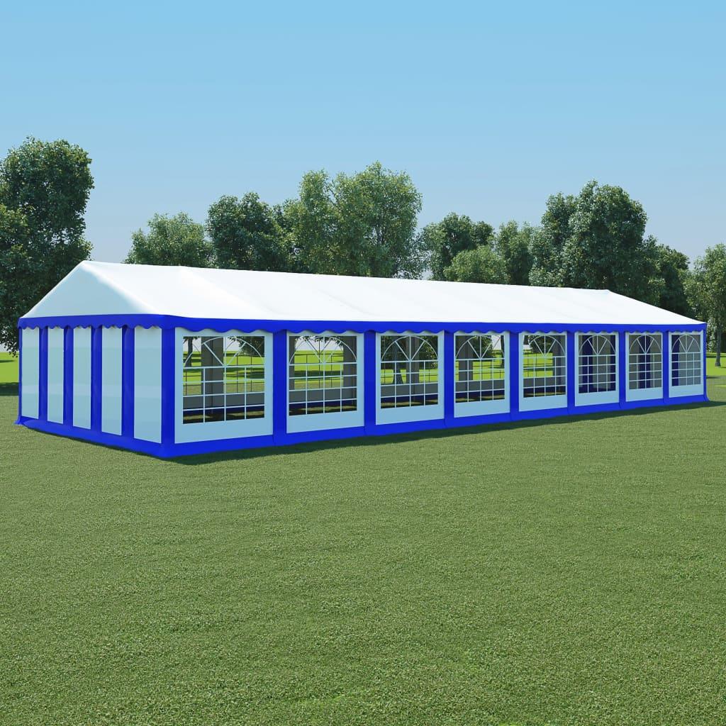 vidaXL Tuinpaviljoen 6x16 m PVC blauw en wit