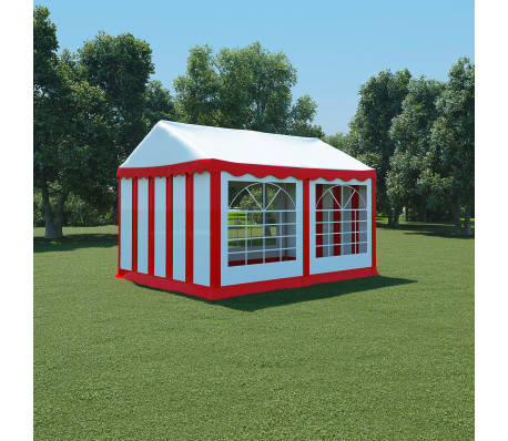 acheter vidaxl chapiteau de jardin pvc 3 x 4 m rouge et blanc pas cher. Black Bedroom Furniture Sets. Home Design Ideas