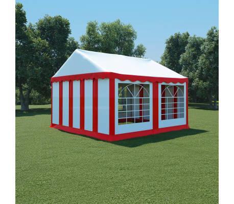 acheter vidaxl chapiteau de jardin pvc 4 x 4 m rouge et blanc pas cher. Black Bedroom Furniture Sets. Home Design Ideas