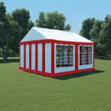 vidaXL Namiot ogrodowy z PVC, 4x4 m, czerwono-biały