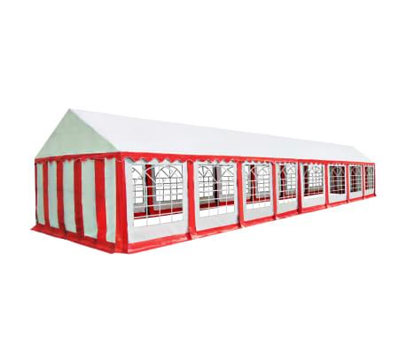 vidaXL Chapiteau de jardin PVC 6 x 16 m Rouge et blanc