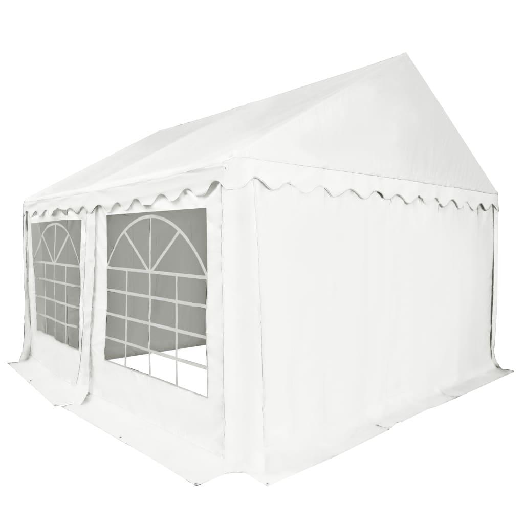 vidaXL Tuinpaviljoen 3x4 m PVC wit