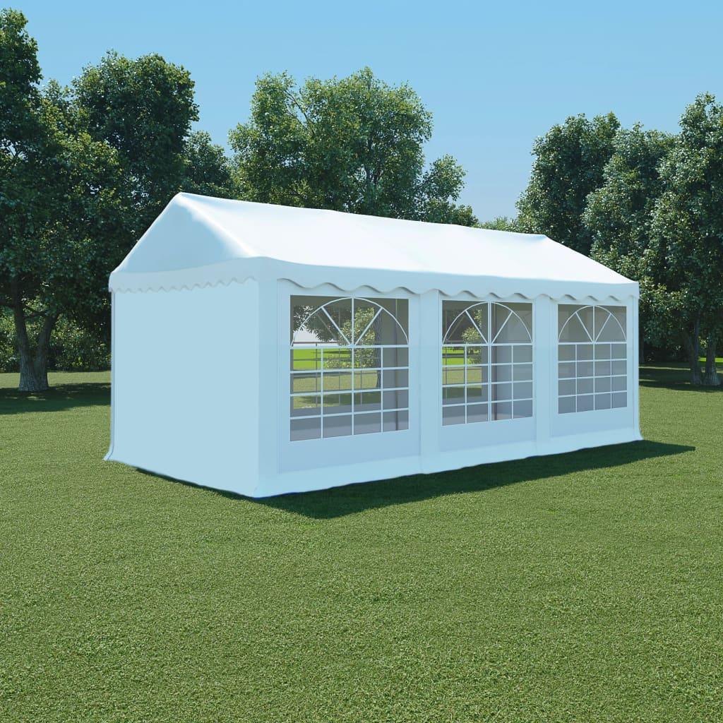 vidaXL Hagetelt PVC 3x6 m hvit