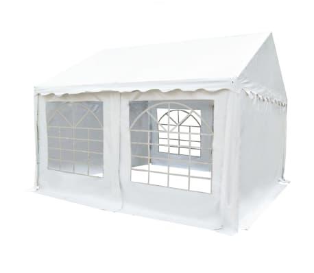 vidaXL fehér PVC kerti pavilon 4 x 4 m