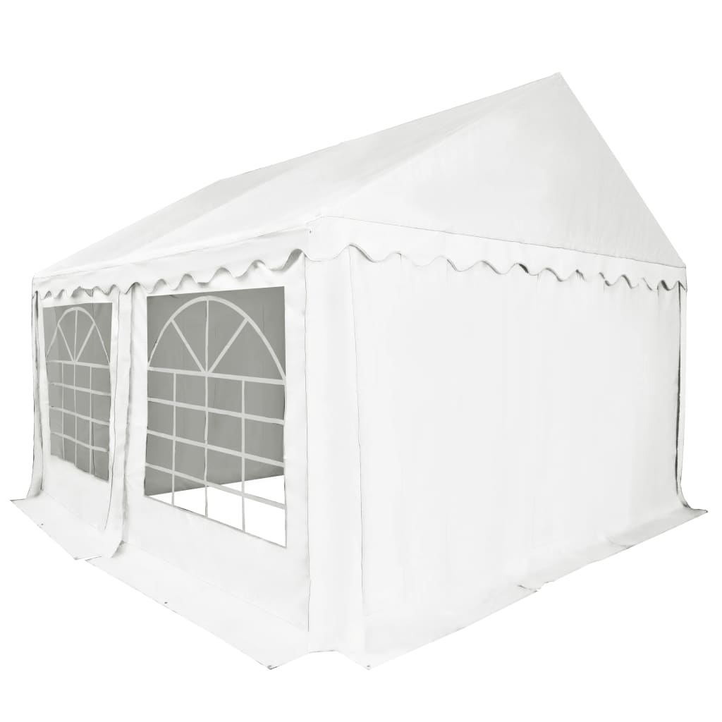 vidaXL Tuinpaviljoen 4x4 m PVC wit