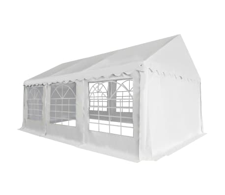 vidaXL fehér PVC kerti pavilon 4 x 6 m