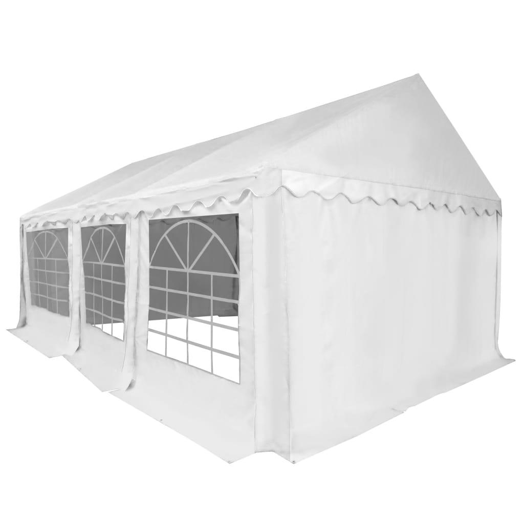 vidaXL Tuinpaviljoen 4x6 m PVC wit