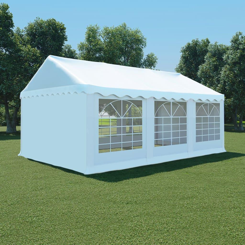 vidaXL Pavilion grădină, alb, 4 x 6 m, PVC poza vidaxl.ro