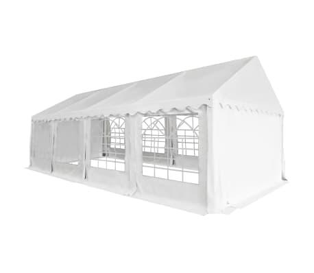vidaXL Tuinpaviljoen 4x8 m PVC wit