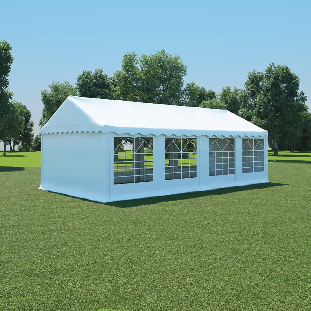 vidaXL Pavilion grădină, alb, 4 x 8 m, PVC vidaxl.ro