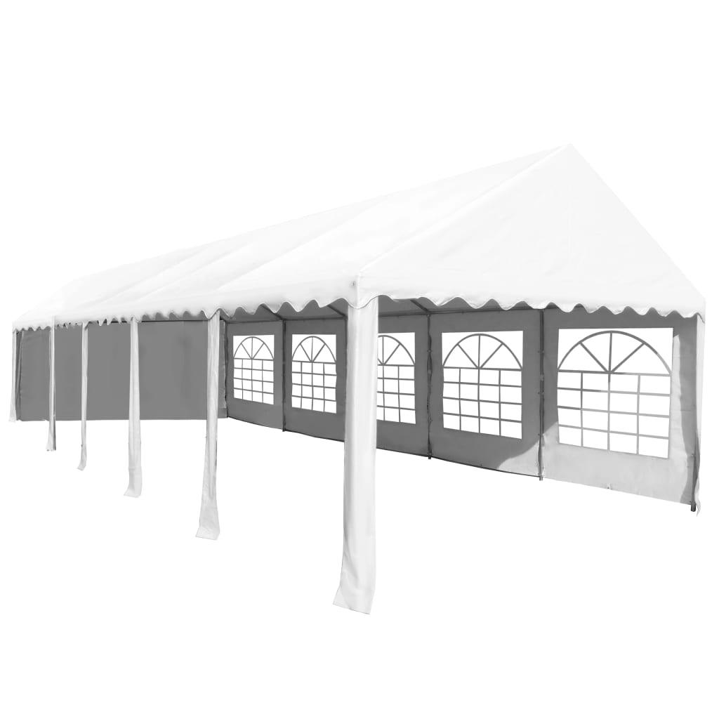 vidaXL Tuinpaviljoen 5x10 m PVC wit