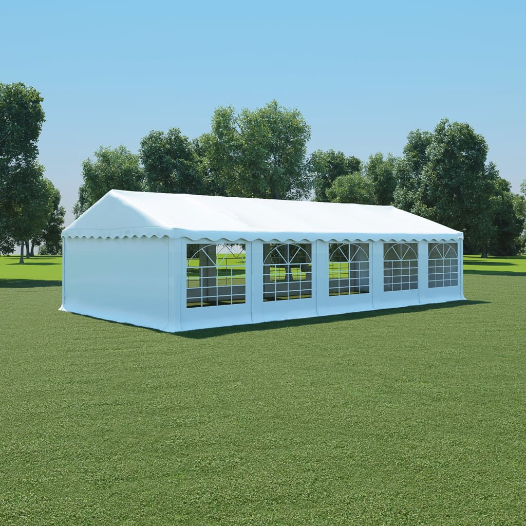 vidaXL Hagetelt PVC 5x10 m hvit