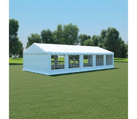 acheter vidaxl chapiteau de jardin pvc 5 x 10 m blanc pas cher. Black Bedroom Furniture Sets. Home Design Ideas