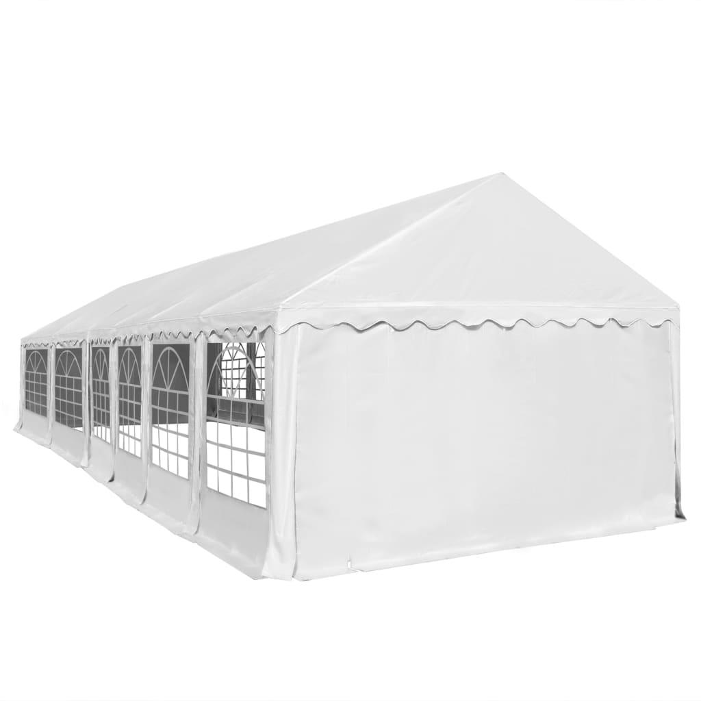 vidaXL Tuinpaviljoen 6x12 m PVC wit
