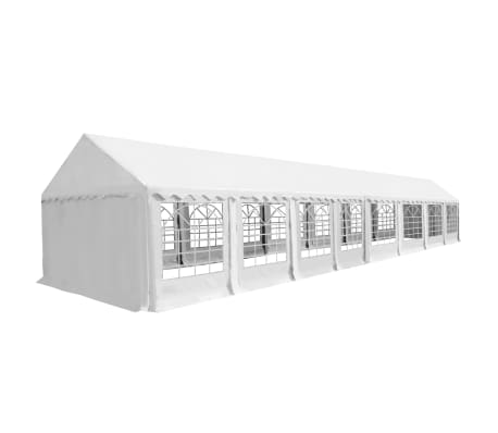 vidaXL Partyzelt PVC 6x16 m Weiß