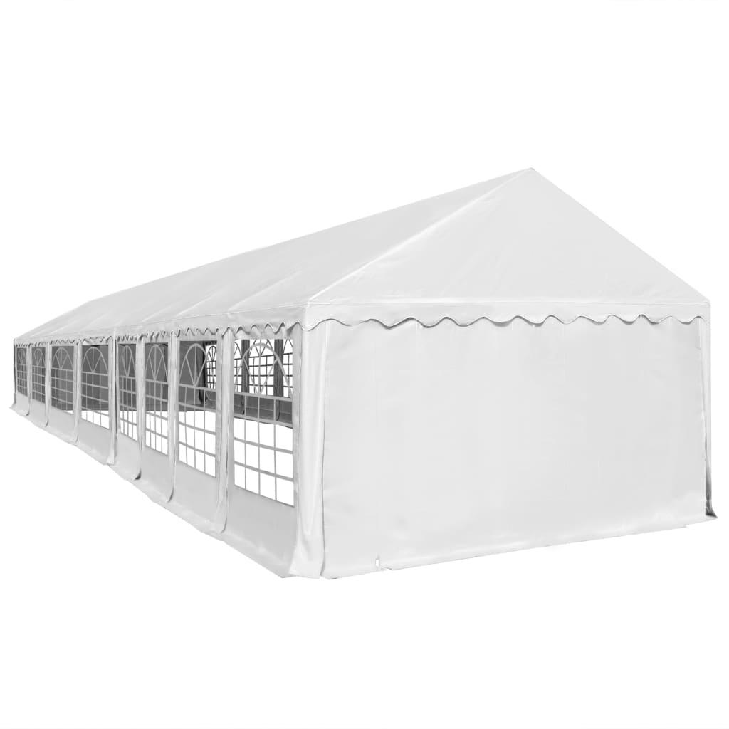 vidaXL Tuinpaviljoen 6x16 m PVC wit