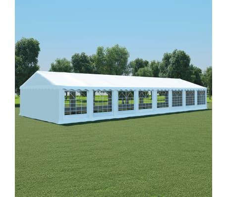 vidaxl chapiteau de jardin pvc 6 x 16 m blanc. Black Bedroom Furniture Sets. Home Design Ideas