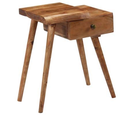 vidaXL Noptieră din lemn masiv de acacia, 45 x 32 x 55 cm[13/14]