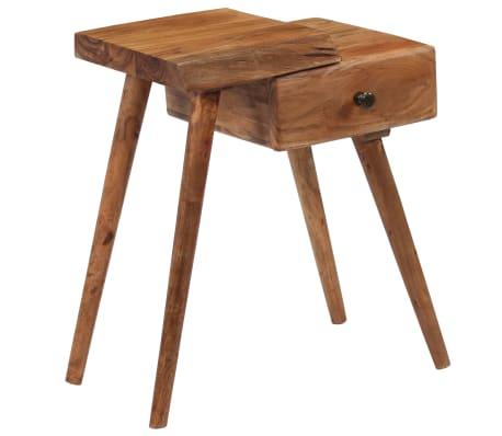 vidaXL Noptieră din lemn masiv de acacia, 45 x 32 x 55 cm[14/14]