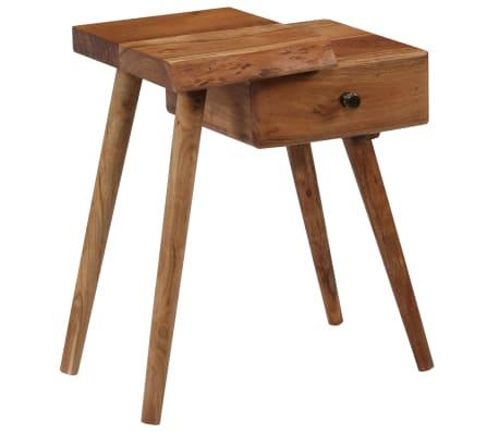 vidaXL Noptieră din lemn masiv de acacia, 45 x 32 x 55 cm[9/14]
