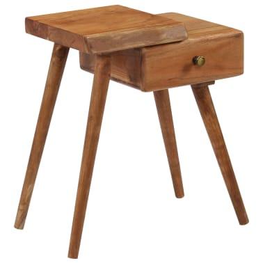 vidaXL Noptieră din lemn masiv de acacia, 45 x 32 x 55 cm[11/14]