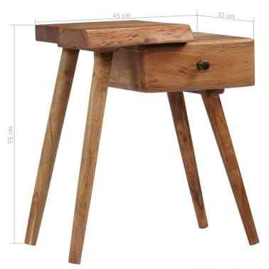 vidaXL Noptieră din lemn masiv de acacia, 45 x 32 x 55 cm[12/14]