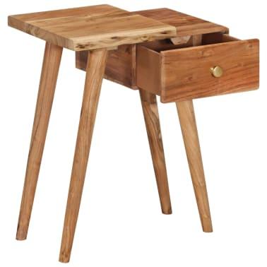 vidaXL Noptieră din lemn masiv de acacia, 45 x 32 x 55 cm[3/14]