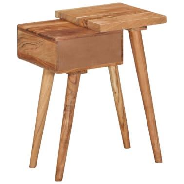vidaXL Noptieră din lemn masiv de acacia, 45 x 32 x 55 cm[10/14]