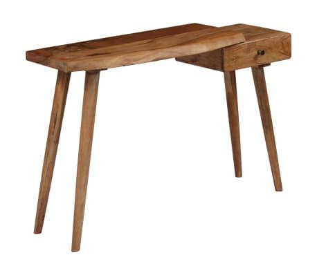 vidaXL Konsolinis staliukas, akacijos medienos masyvas, 115x35x76cm[1/17]