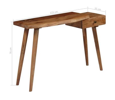 vidaXL Konsolinis staliukas, akacijos medienos masyvas, 115x35x76cm[17/17]
