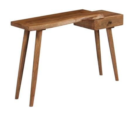 vidaXL Konsolinis staliukas, akacijos medienos masyvas, 115x35x76cm[3/17]