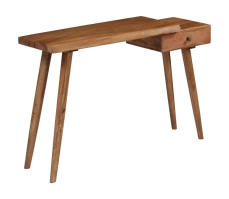 vidaXL Konsolinis staliukas, akacijos medienos masyvas, 115x35x76cm[4/17]