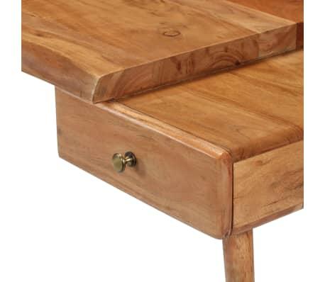 vidaXL Konsolinis staliukas, akacijos medienos masyvas, 115x35x76cm[5/17]