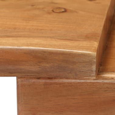 vidaXL Konsolinis staliukas, akacijos medienos masyvas, 115x35x76cm[10/17]