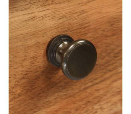 vidaXL Rašomasis stalas, masyvi akacijos mediena, 110x50x76cm[12/18]