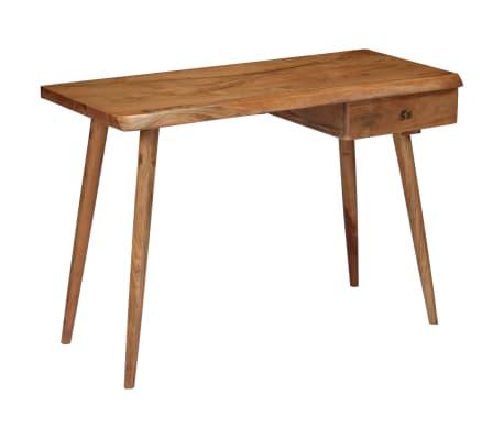 vidaXL Rašomasis stalas, masyvi akacijos mediena, 110x50x76cm[16/18]